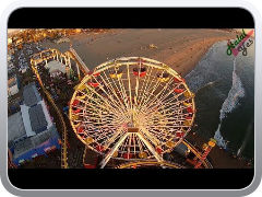 Santa Monica Pier Aerial Video by DJI Phantom 2 Vision