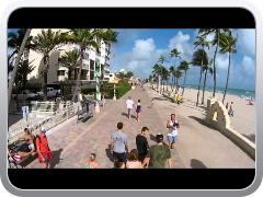 dji phantom vision walking my Drone on hollywood beach