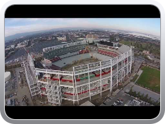Levi's Stadium aerial view using Dji Phantom Vision 2. (no audio) 12/8/2013