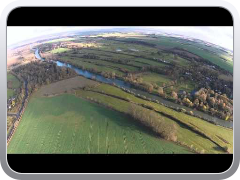 DJI Phantom 2 Vision climb to 1000ft over the Thames in South Oxfordshire