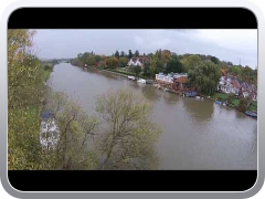 River Thames at South Stoke, Oxfordshire - DJI Phantom 2 Vision